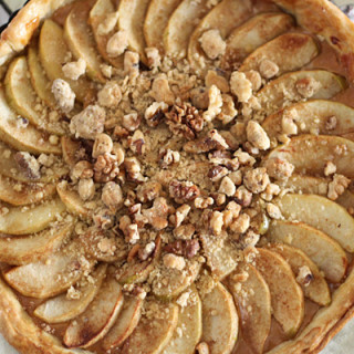 Cider Poached Apple and Salted Caramel Tart
