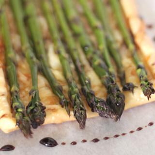 Roasted Asparagus, Balsamic & Gruyere Tart