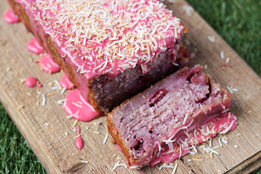 Raspberry Coconut Tea Cake