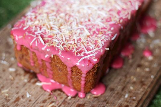 Raspberry Coconut Tea Cake