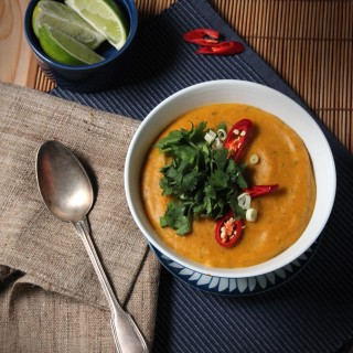 Pumpkin and Sweet Potato Red Thai Soup
