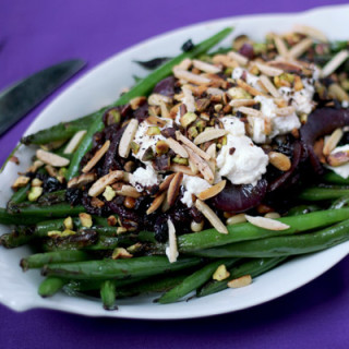 Middle Eastern Green Beans with Persian Feta & Roasted Nuts