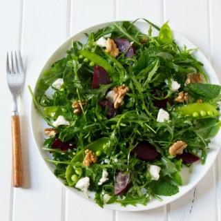 Beetroot, Persian Feta, Walnut and Rocket Salad